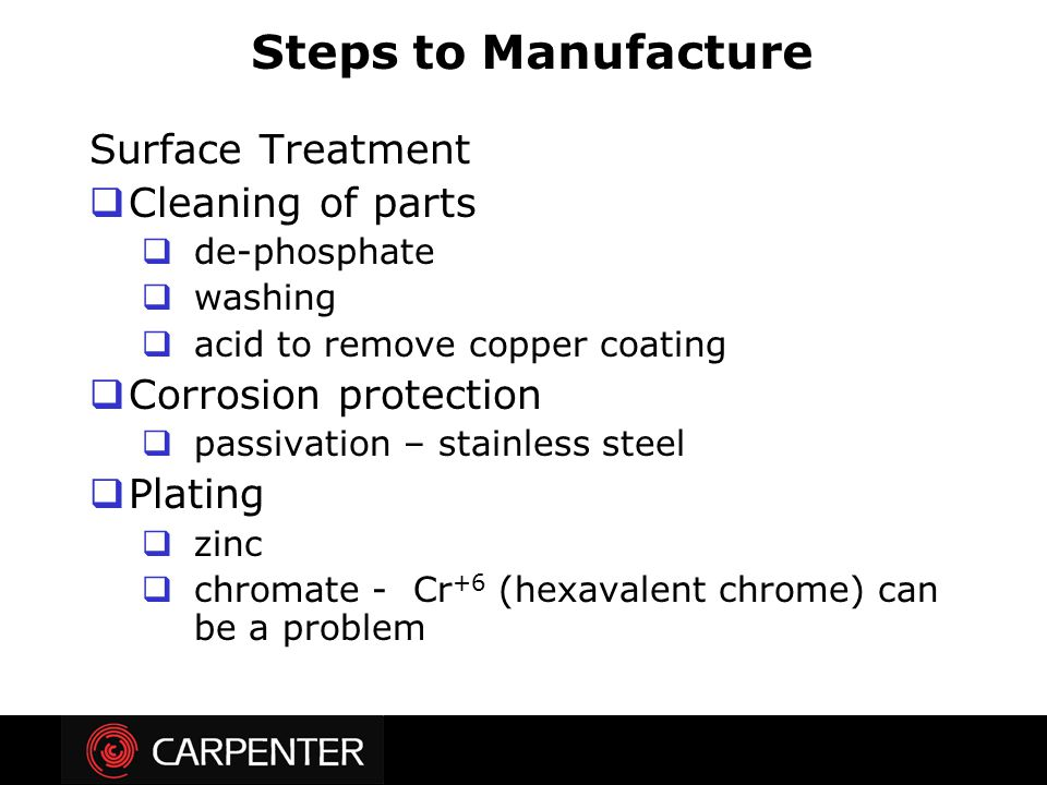 Steps to Manufacture Surface Treatment Cleaning of parts
