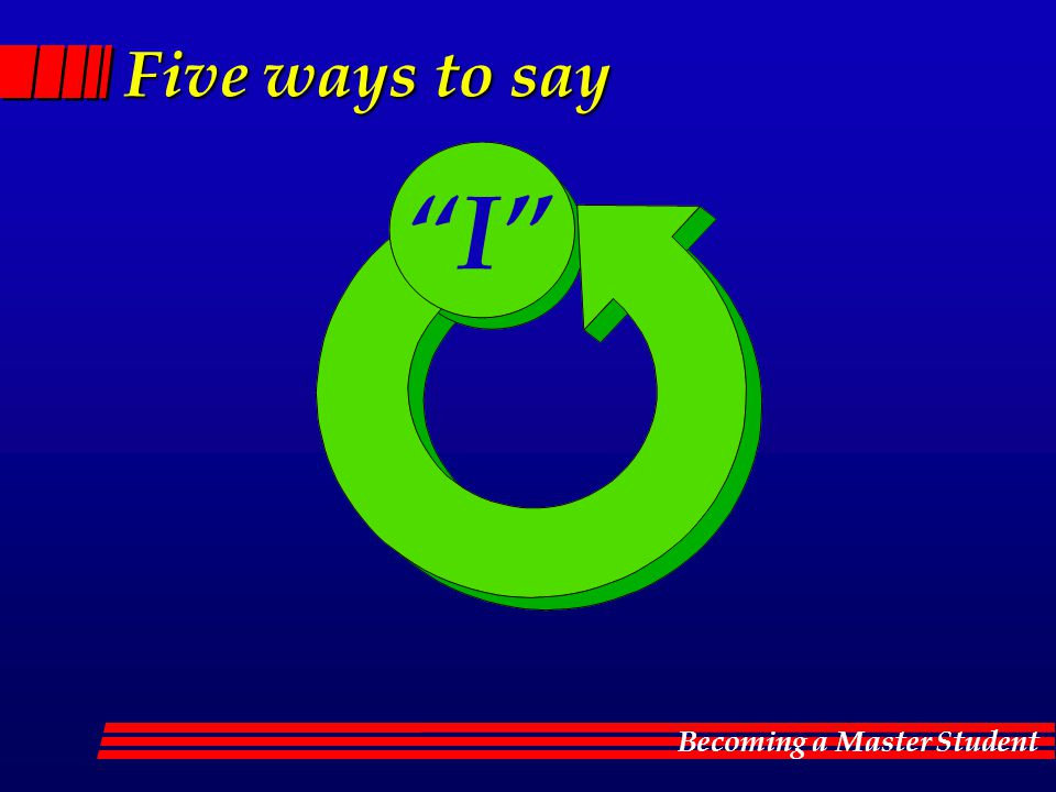Five ways to say I