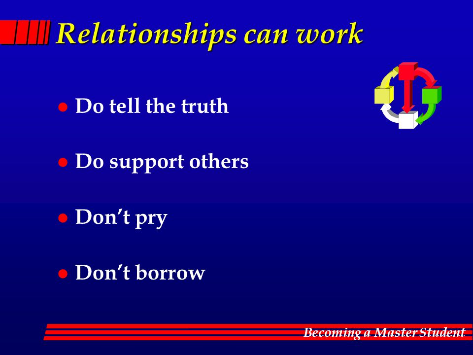 Relationships can work