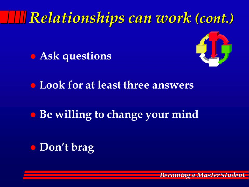 Relationships can work (cont.)
