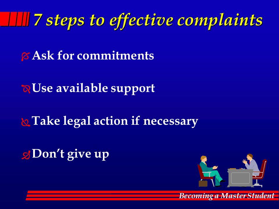 7 steps to effective complaints