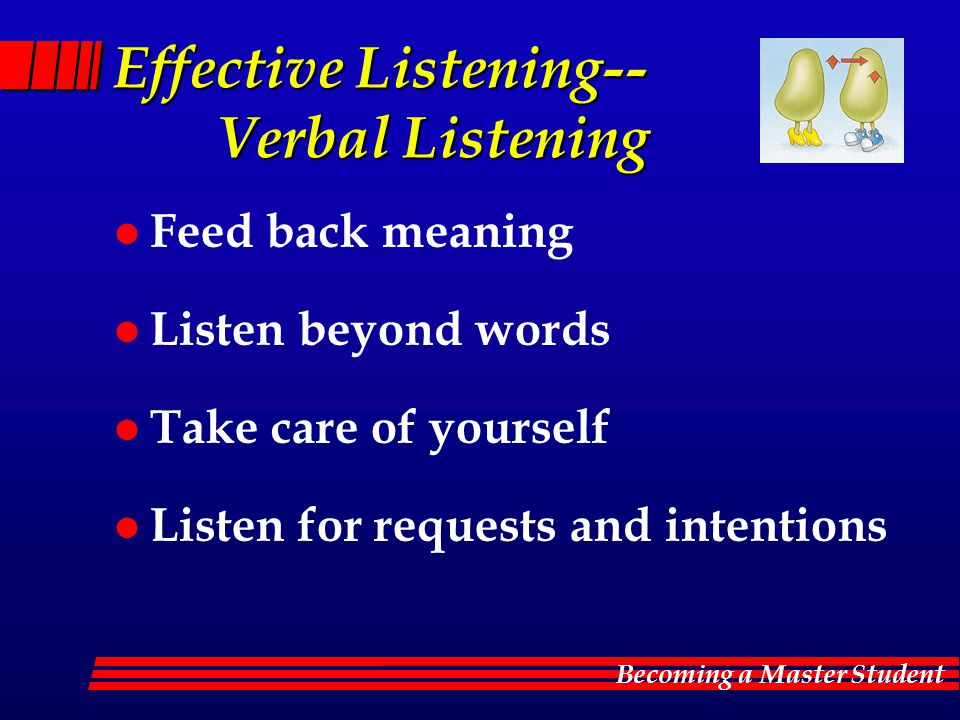 Effective Listening-- Verbal Listening