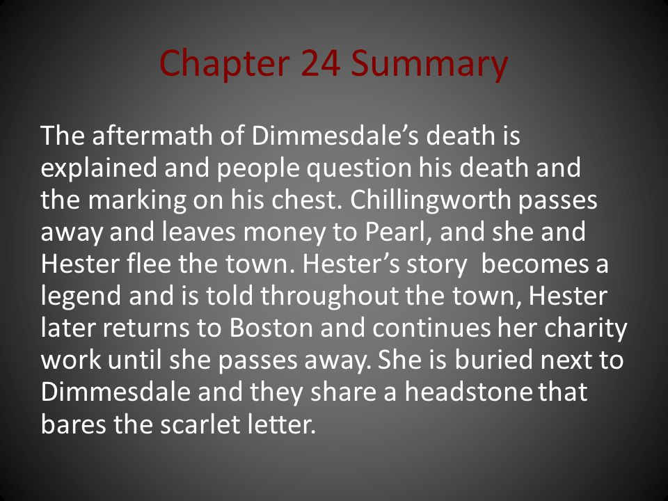 Chapter 24 Summary