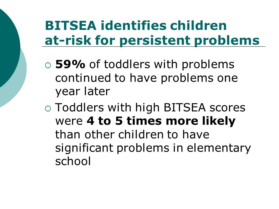 BITSEA identifies children at-risk for persistent problems
