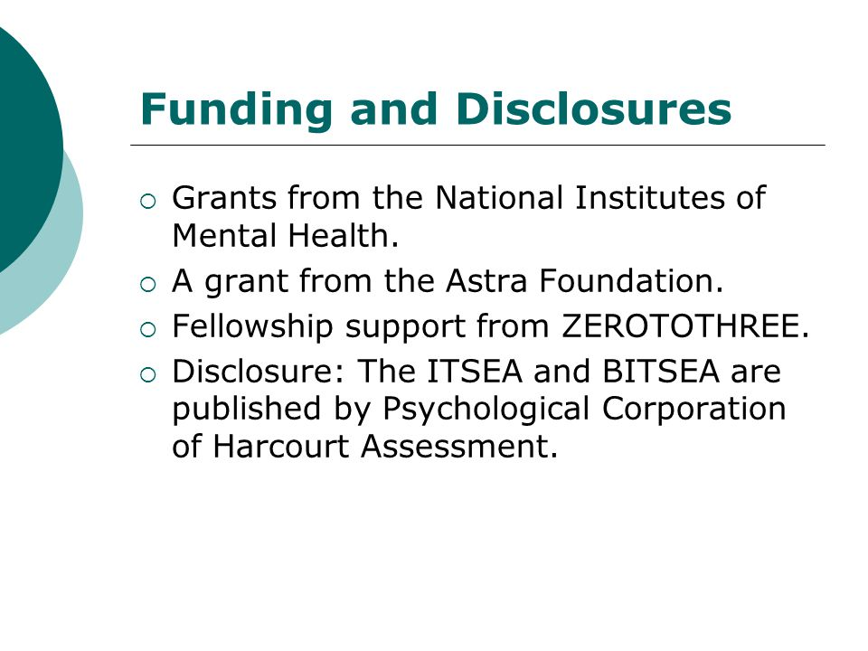 Funding and Disclosures