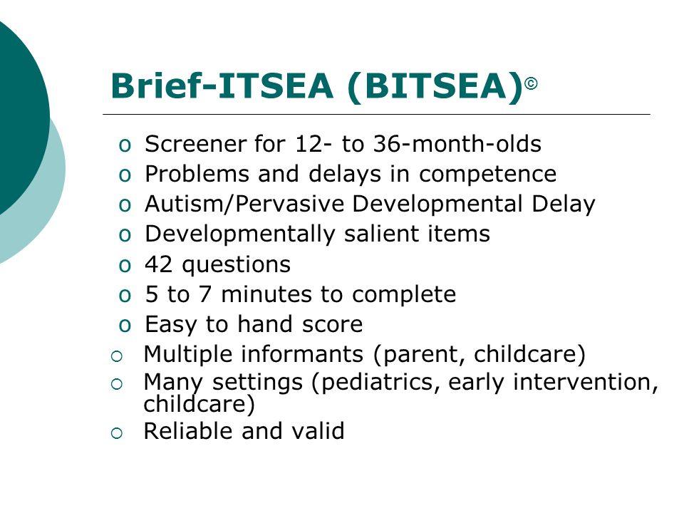 Brief-ITSEA (BITSEA)©