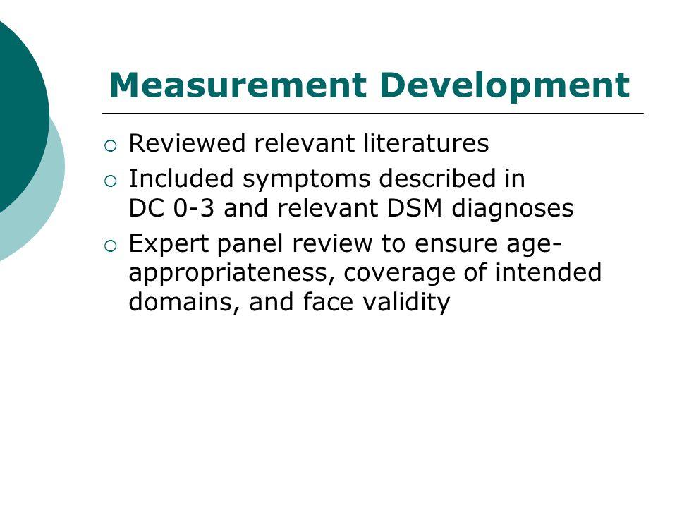 Measurement Development