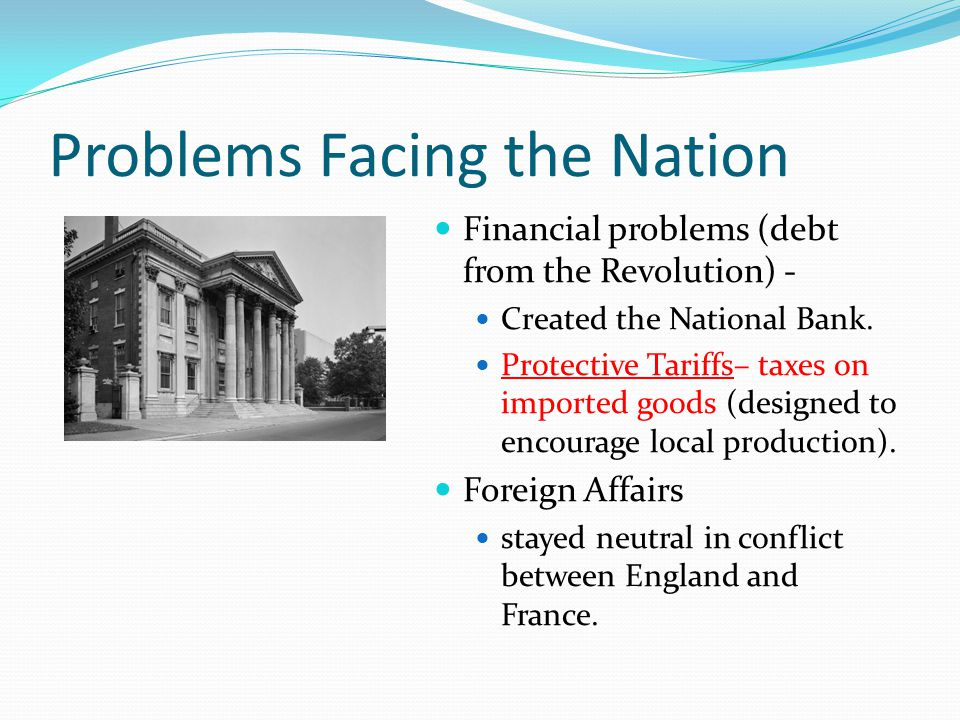 Problems Facing the Nation