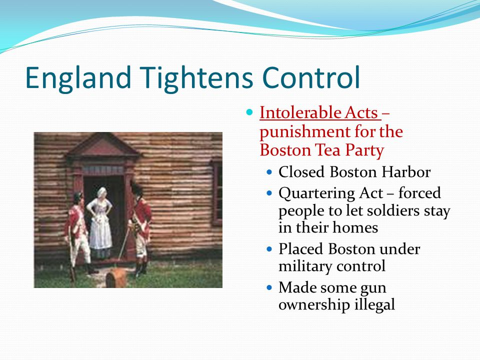 England Tightens Control
