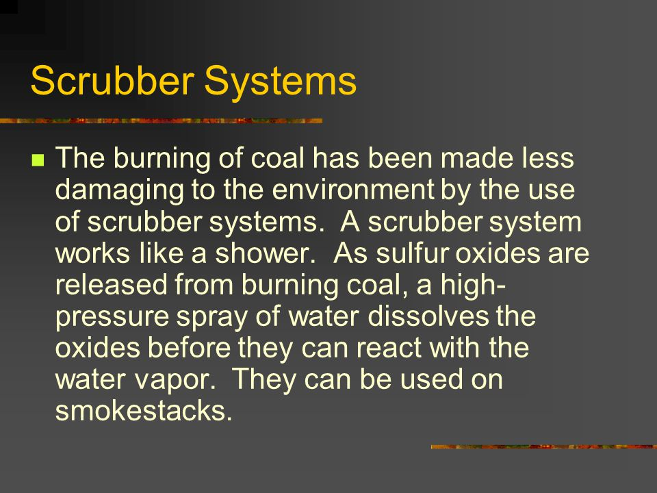 Scrubber Systems