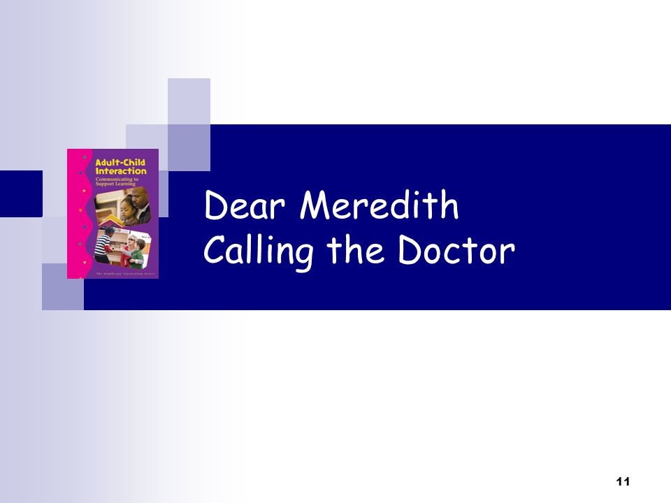 Dear Meredith Calling the Doctor