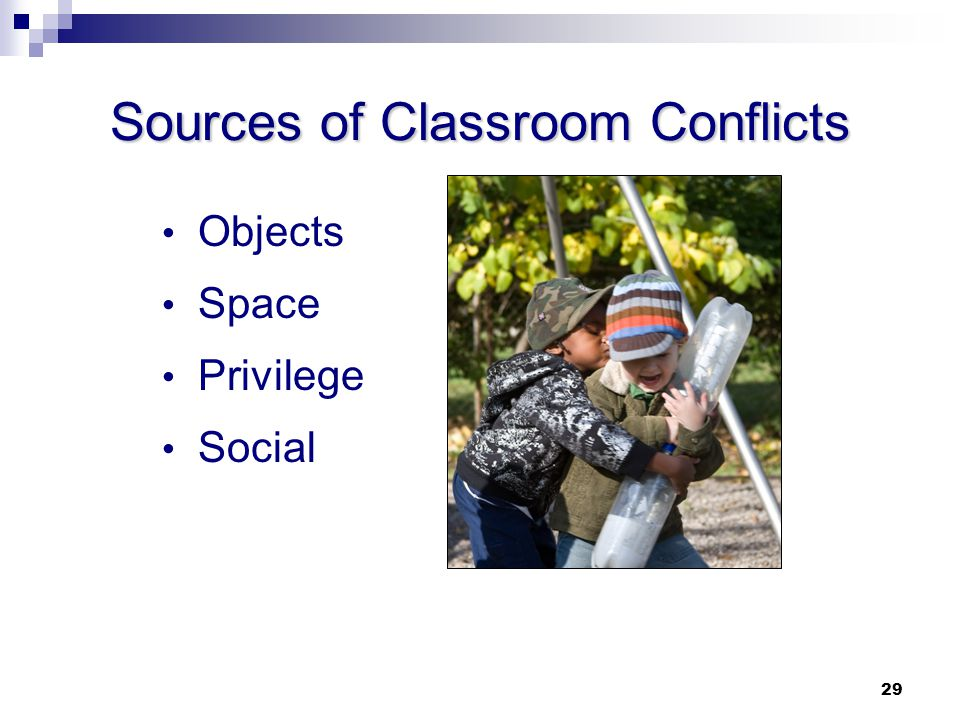 Sources of Classroom Conflicts