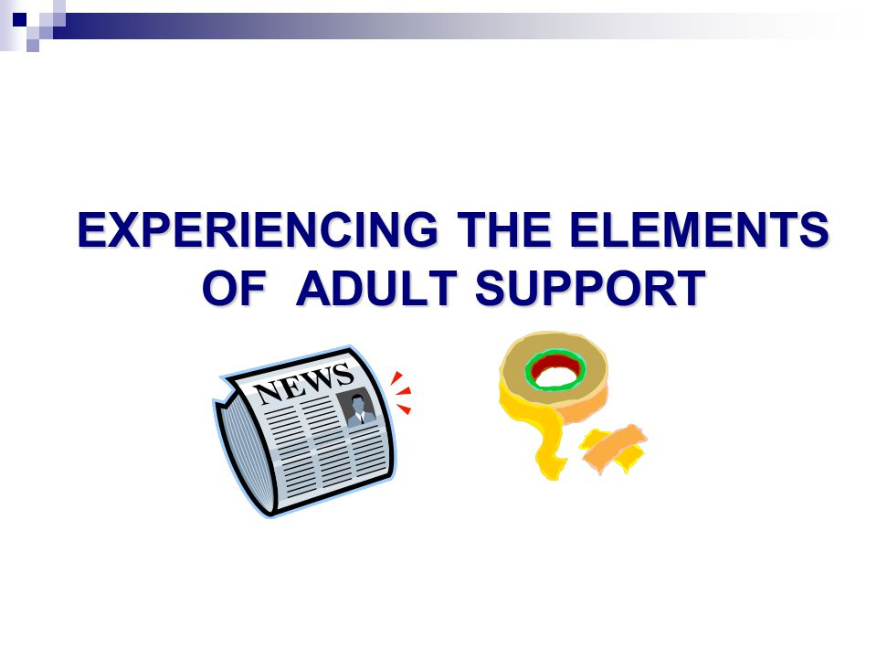 Experiencing the Elements of Adult Support
