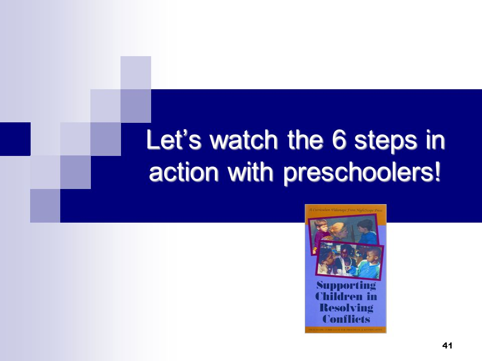 Let's watch the 6 steps in action with preschoolers!