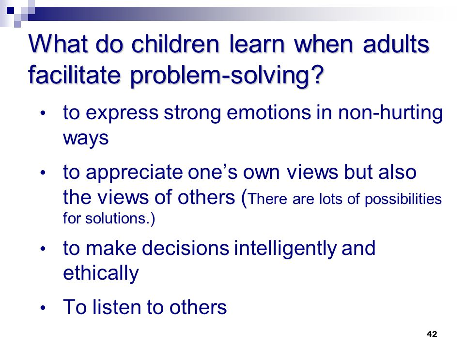 What do children learn when adults facilitate problem-solving