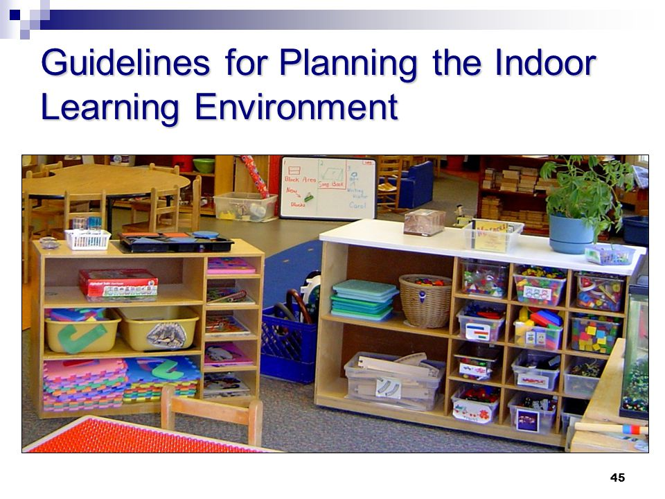Guidelines for Planning the Indoor Learning Environment