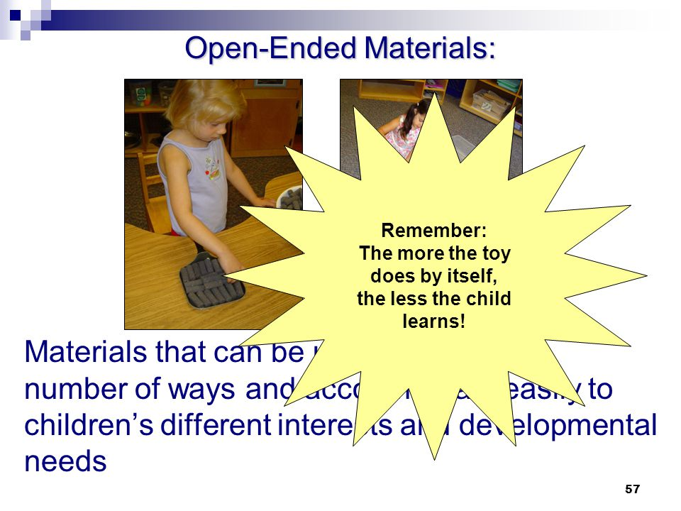 Open-Ended Materials: