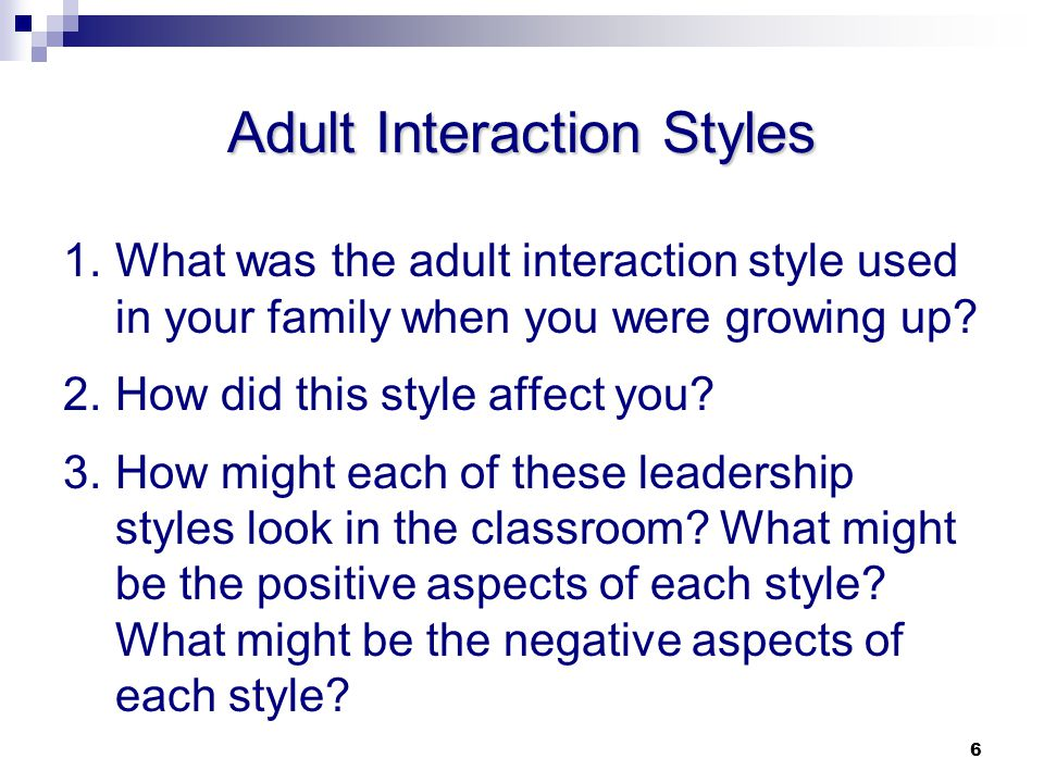 Adult Interaction Styles