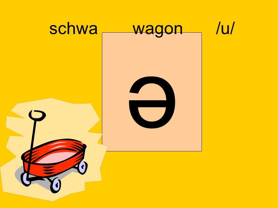 schwa wagon /u/ ә