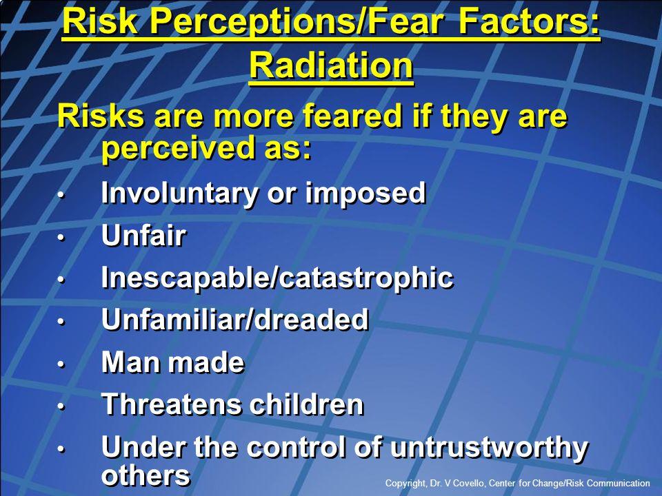 Risk Perceptions/Fear Factors: Radiation