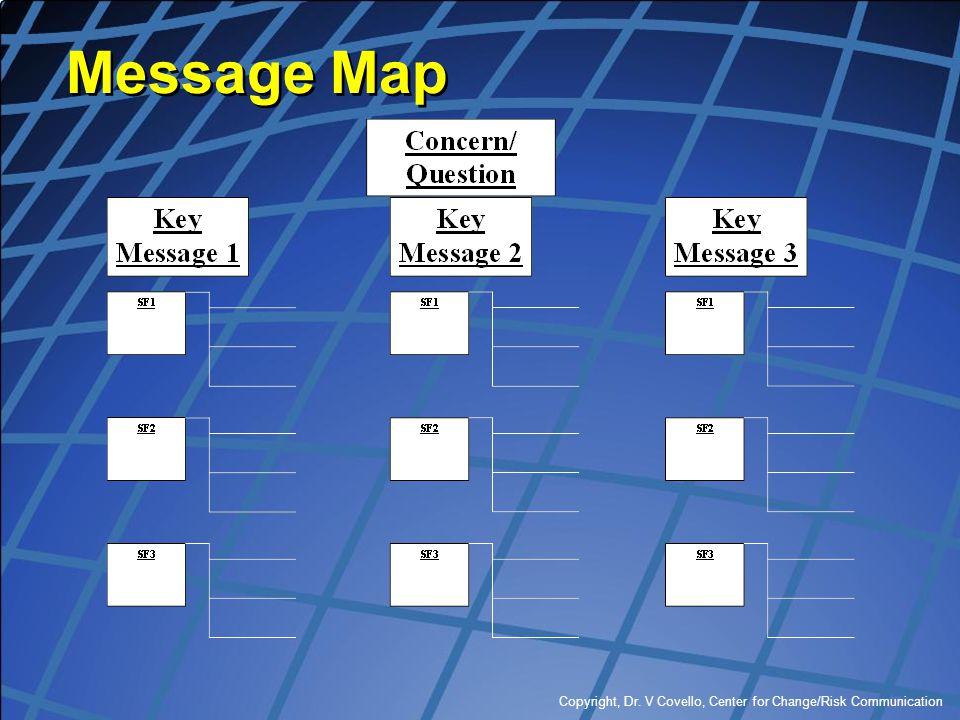 Message Map Copyright, Dr. V Covello, Center for Change/Risk Communication