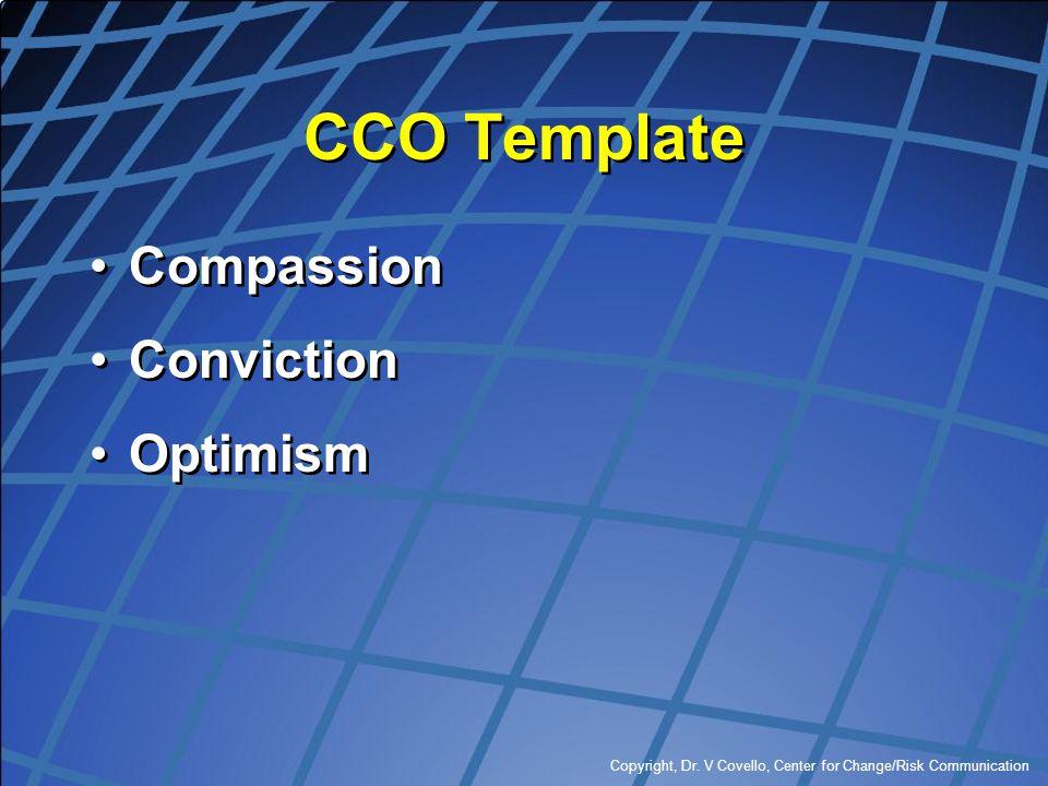 CCO Template Compassion Conviction Optimism