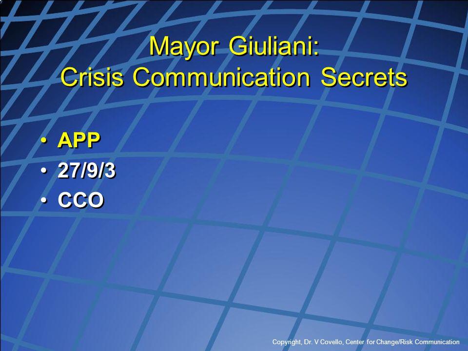 Mayor Giuliani: Crisis Communication Secrets