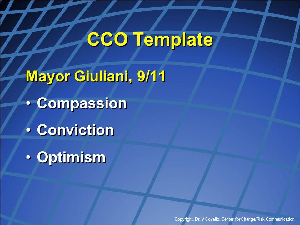 CCO Template Mayor Giuliani, 9/11 Compassion Conviction Optimism