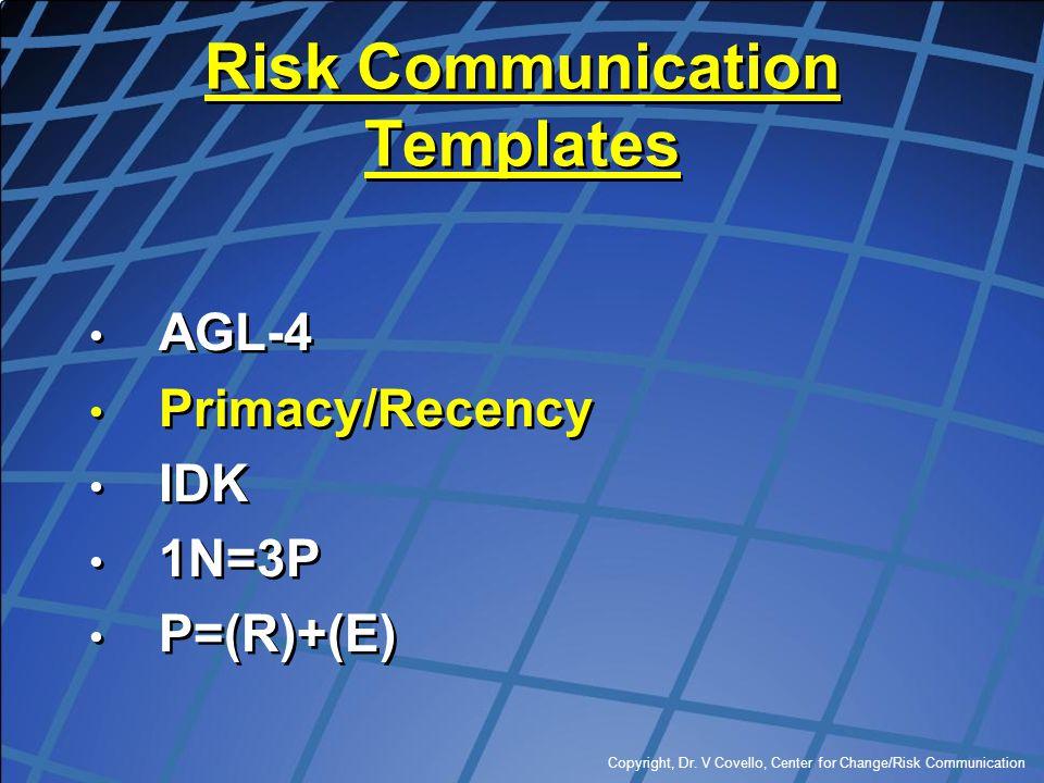 Risk Communication Templates