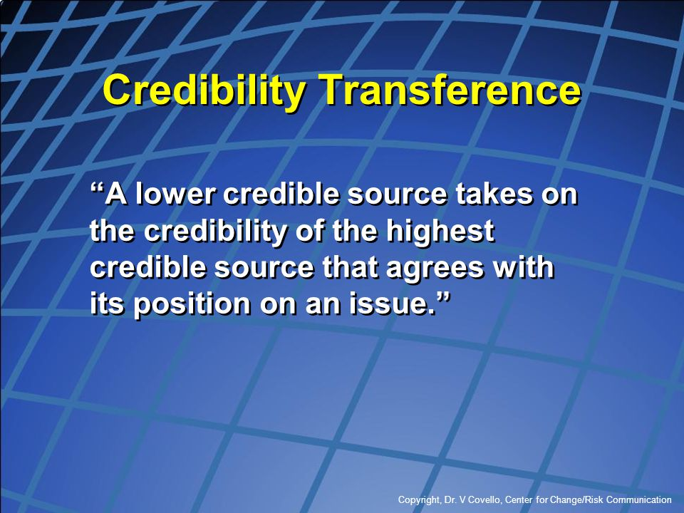 Credibility Transference