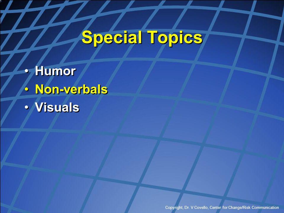 Special Topics Humor Non-verbals Visuals