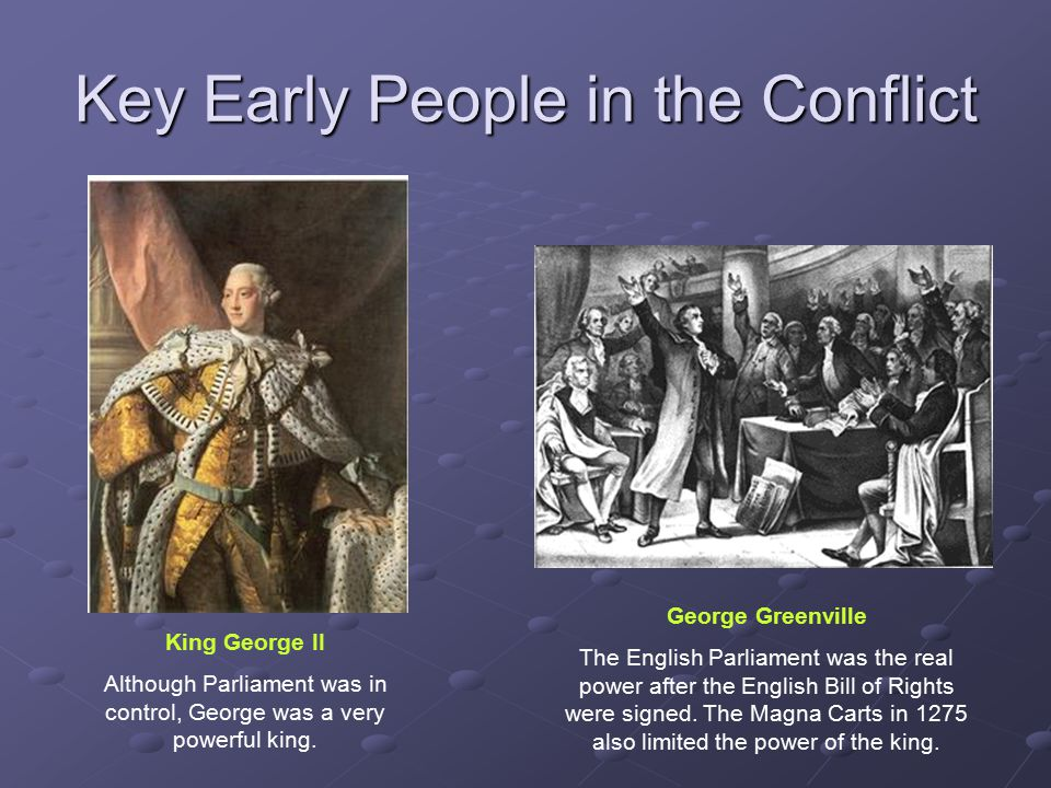 Key Early People in the Conflict
