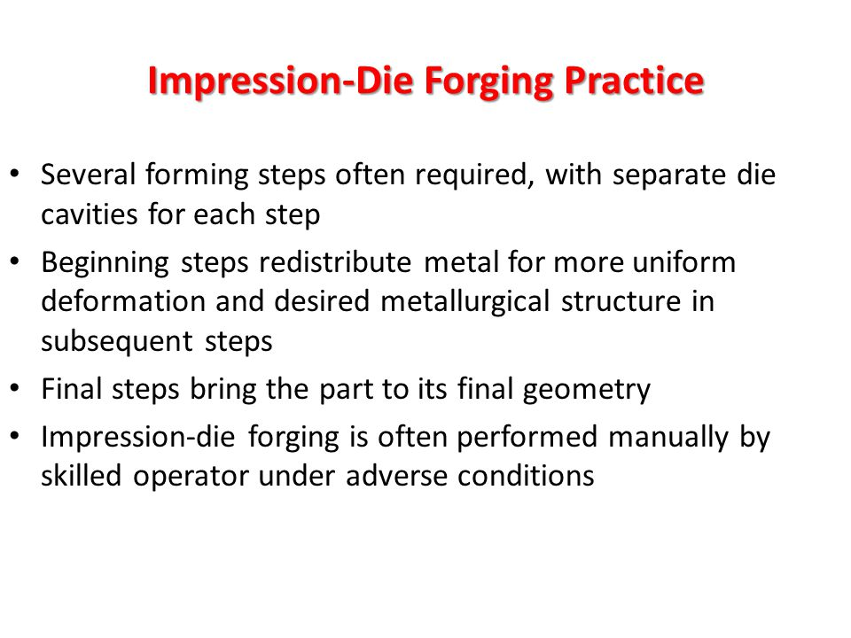 Impression-Die Forging Practice