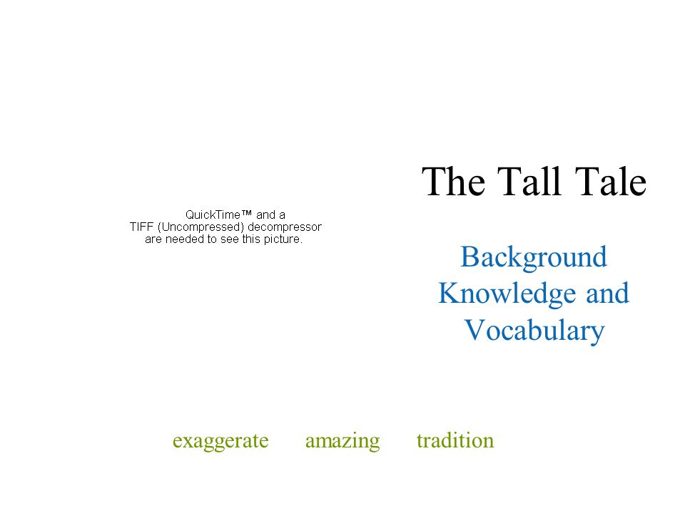 Background Knowledge and Vocabulary