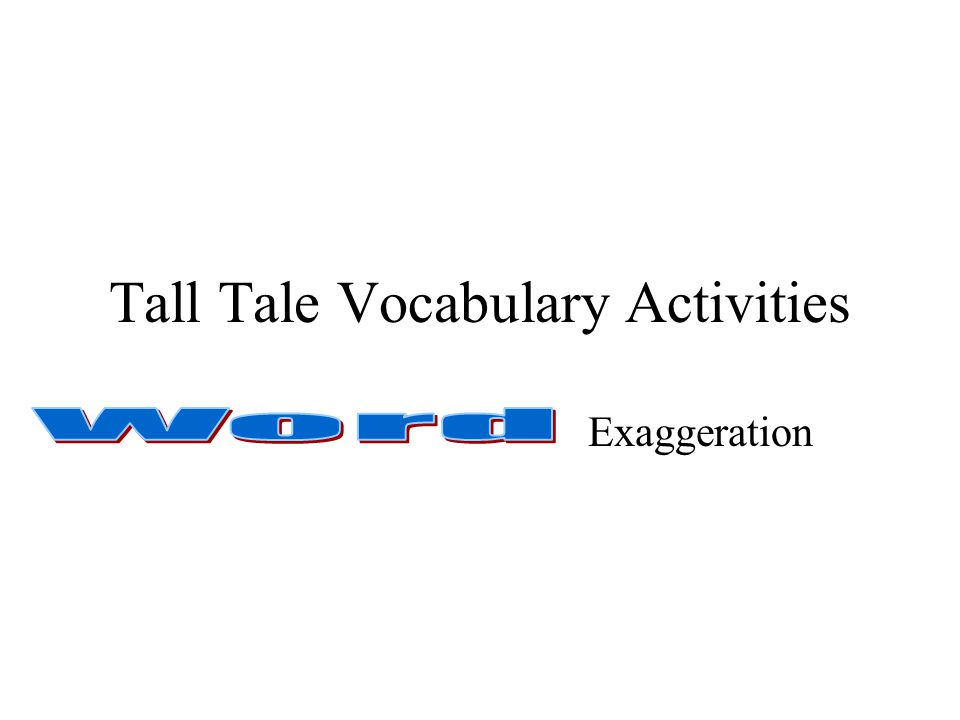 Tall Tale Vocabulary Activities