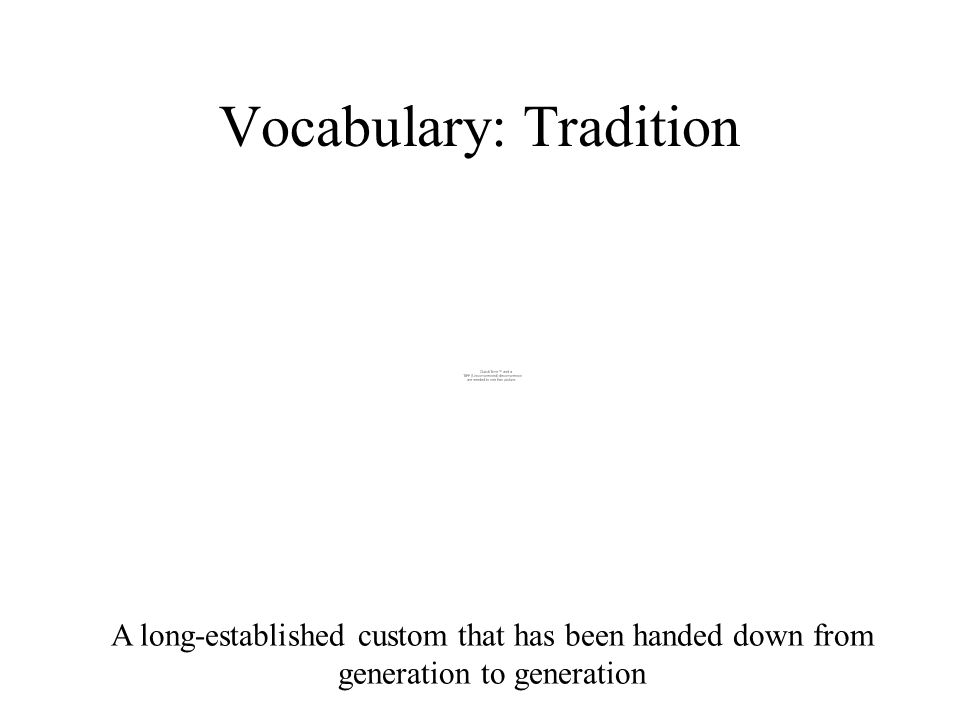 Vocabulary: Tradition