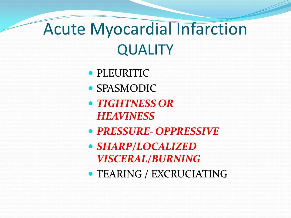 Acute Myocardial Infarction QUALITY