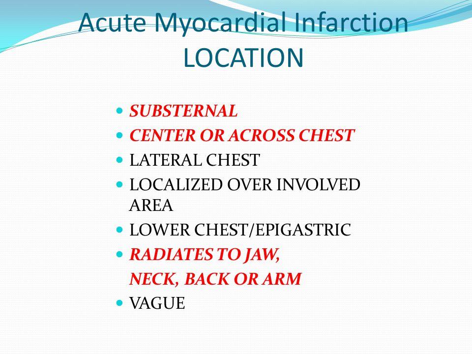 Acute Myocardial Infarction LOCATION