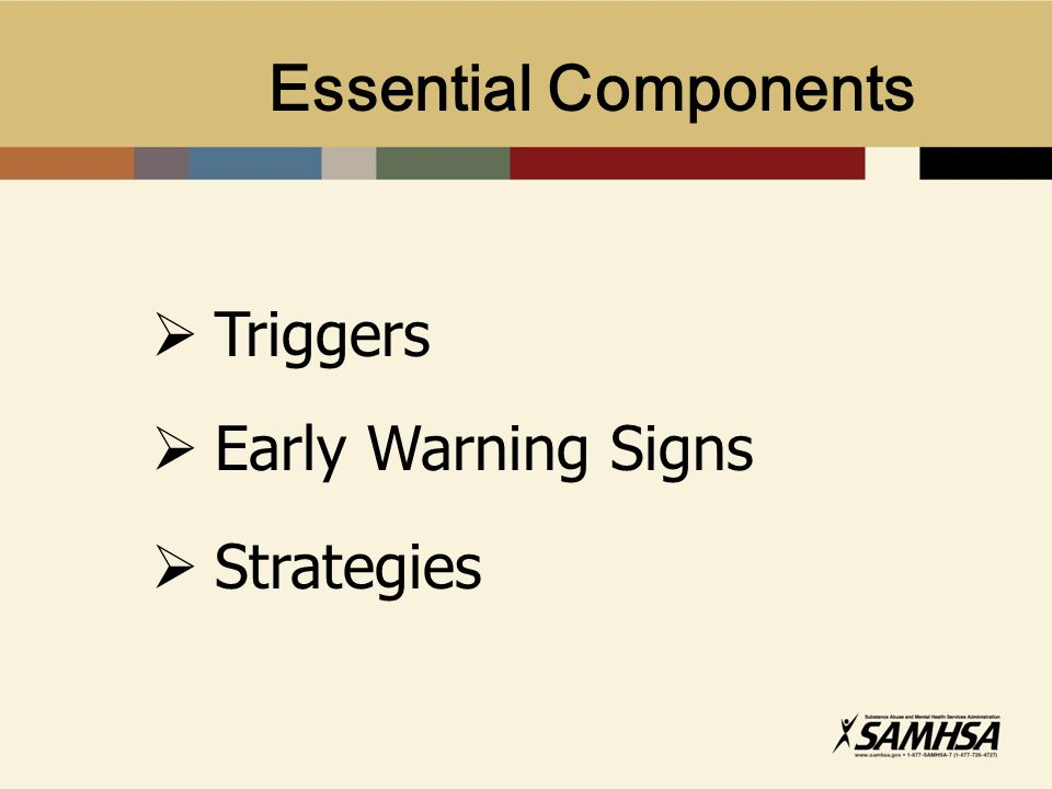 Essential Components Triggers Early Warning Signs Strategies