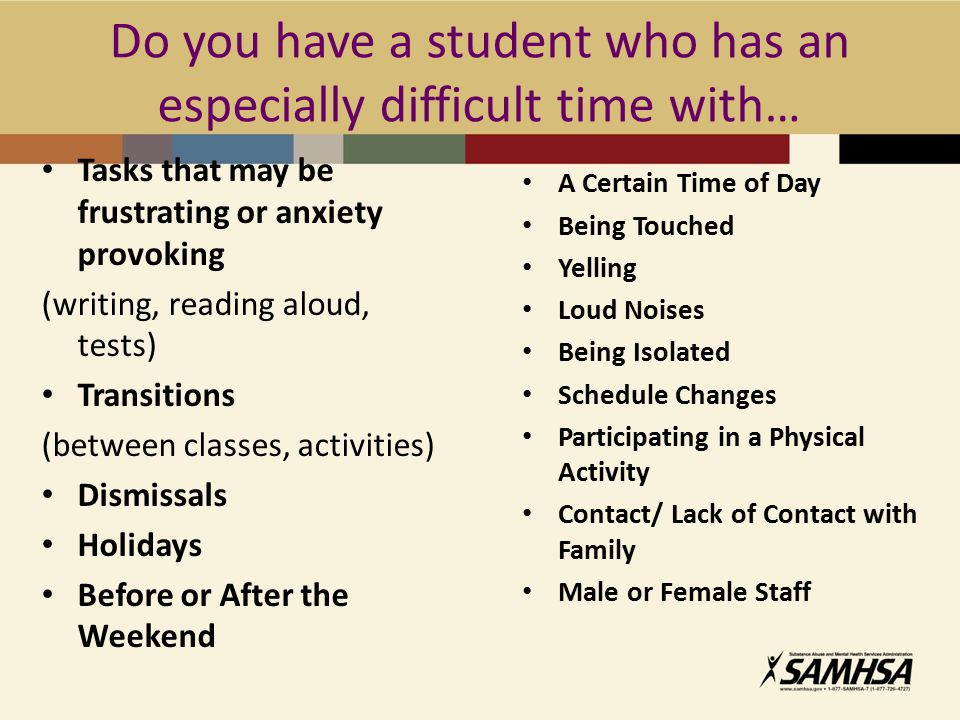 Do you have a student who has an especially difficult time with…