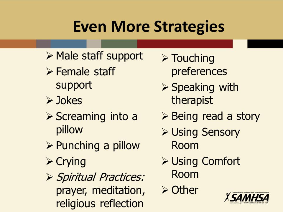 Even More Strategies Male staff support Touching preferences