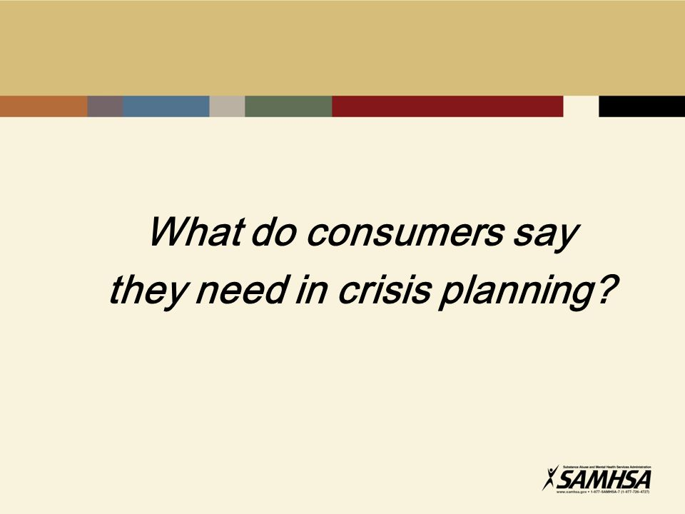 What do consumers say they need in crisis planning