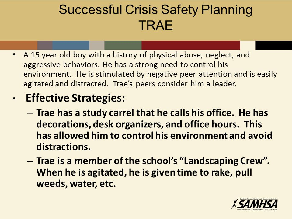 Successful Crisis Safety Planning
