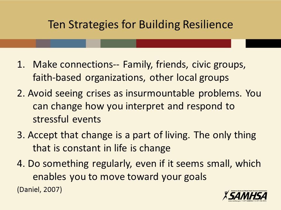 Ten Strategies for Building Resilience