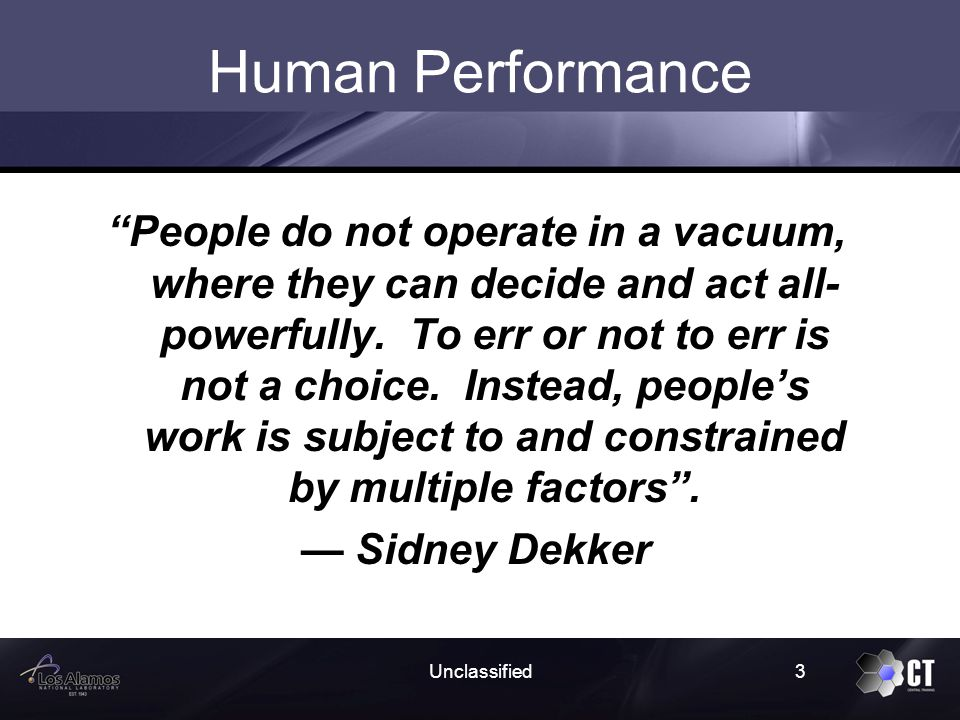 What is Human Performance