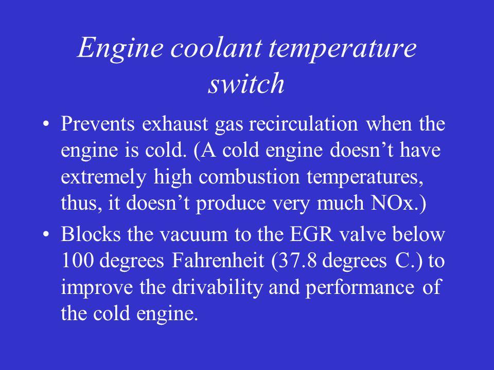 Engine coolant temperature switch