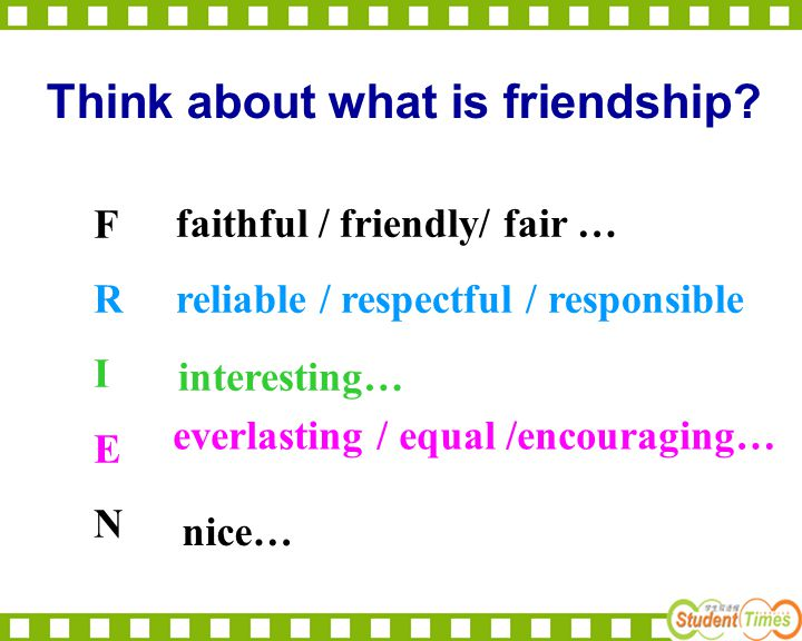 Think about what is friendship