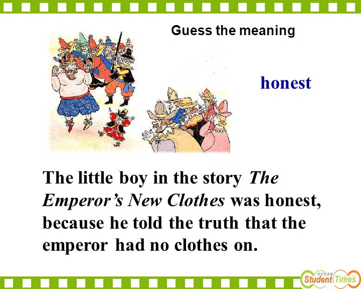 Guess the meaning honest.