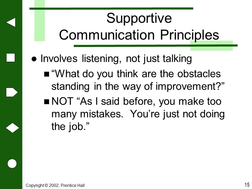 Supportive Communication Principles