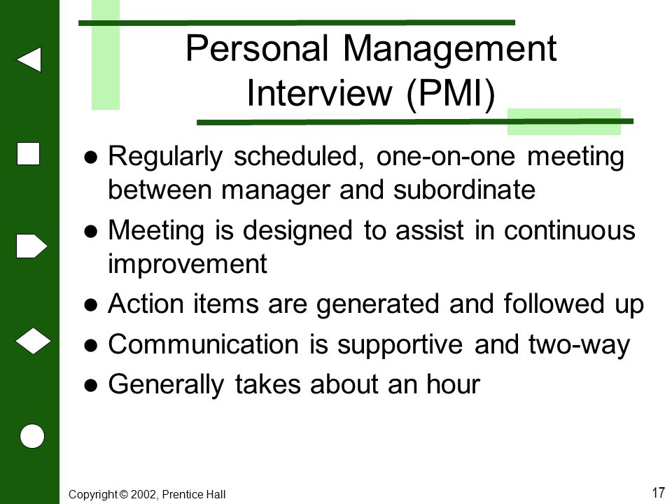 Personal Management Interview (PMI)